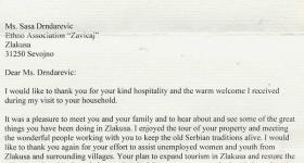 Писмо амбасадорке