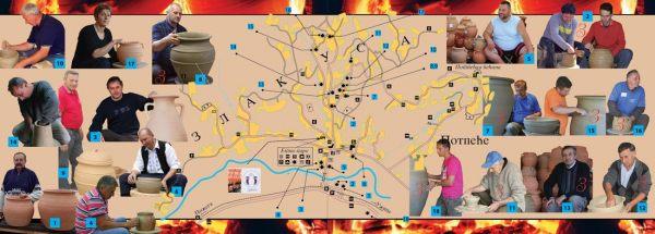 Mapa sela sa grnčarskim domaćinstvima